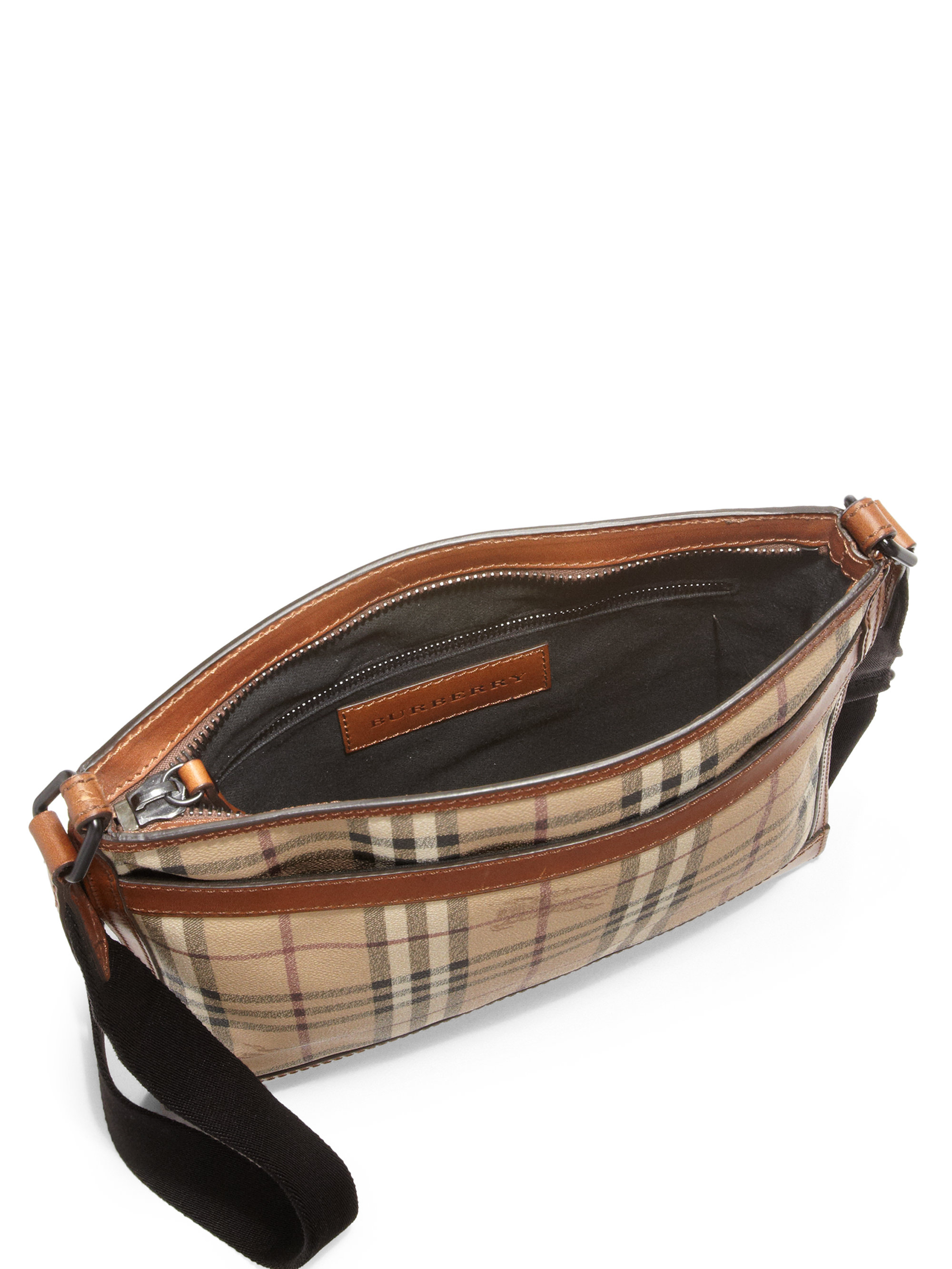 2bd051a3975 Lyst - Burberry Crossbody Messenger Bag in Natural for Men