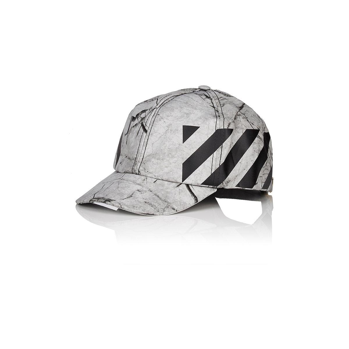 405279158f6 Lyst - Off-White c o Virgil Abloh Men s Striped Ripstop Baseball Cap ...