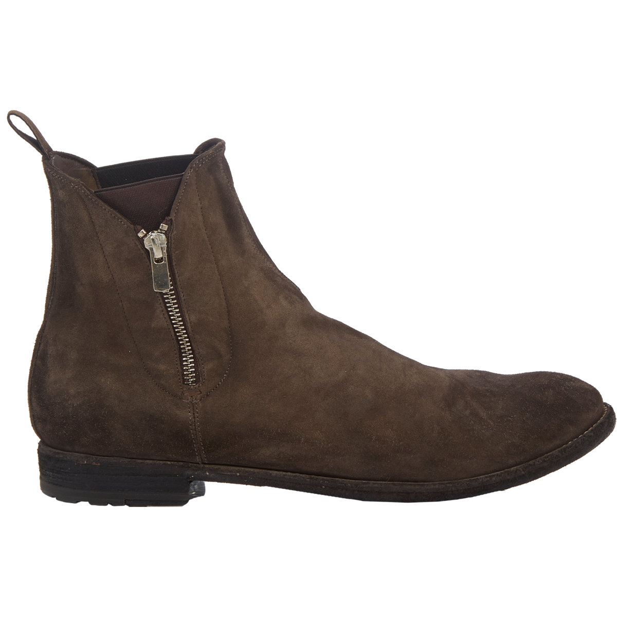 officine creative double zip chelsea boots in brown for. Black Bedroom Furniture Sets. Home Design Ideas