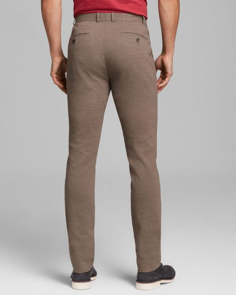 Simple James Perse Linen Cotton Cuffed Pant In Khaki  Lyst