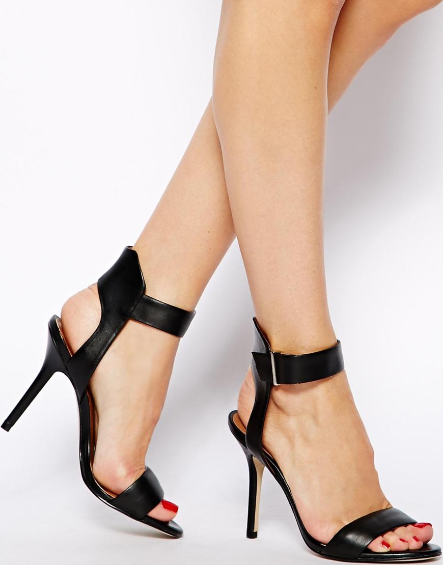 Black sandals with heels - Black Strappy Sandals Heels