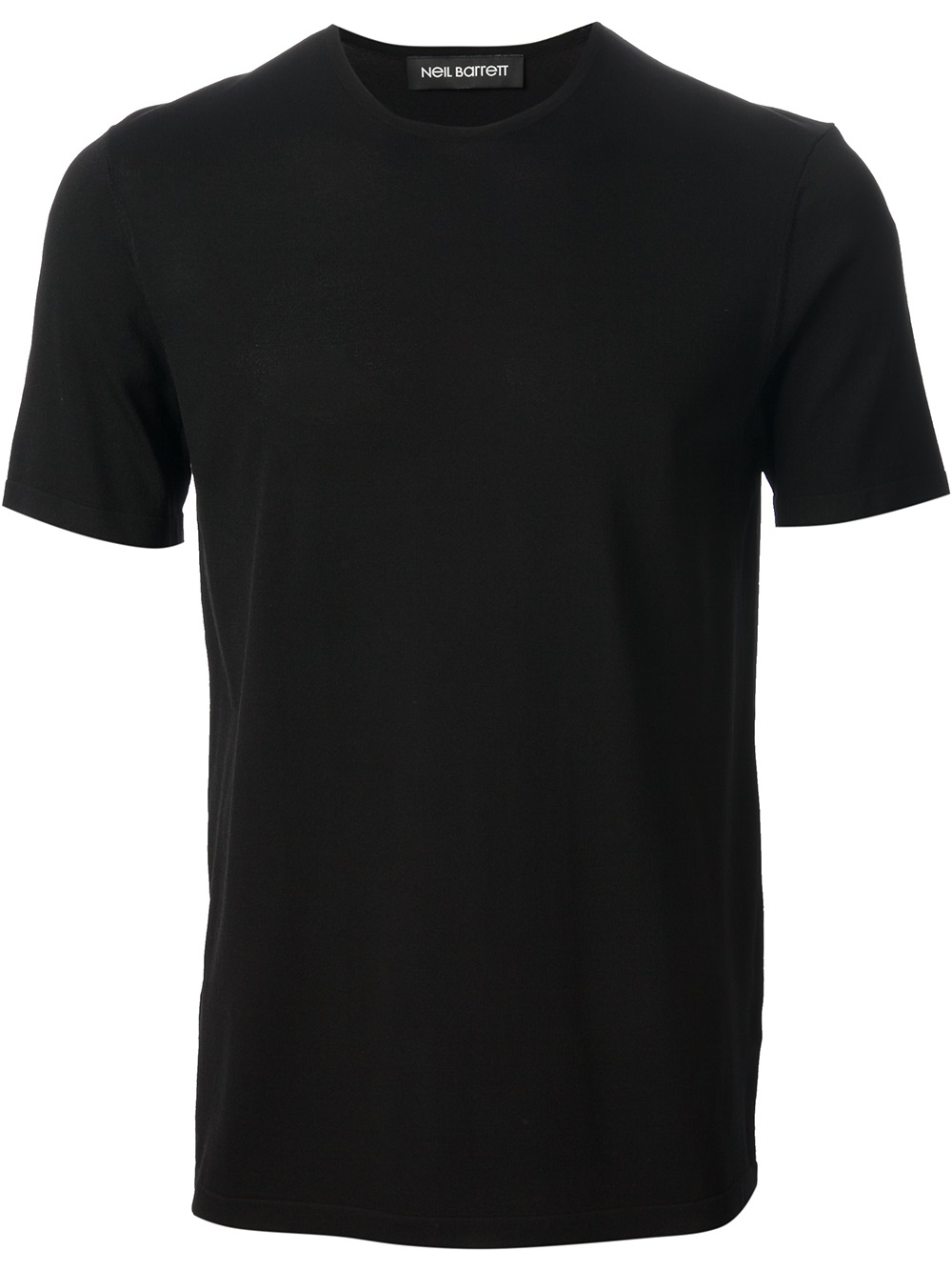 Neil barrett Plain T-Shirt in Black for Men | Lyst
