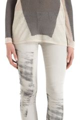 Helmut Lang Colorblock Sweater - Lyst