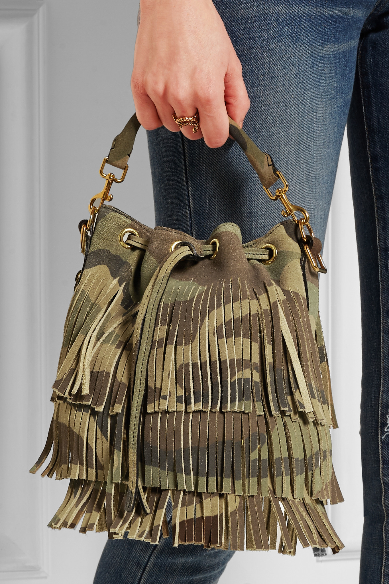 ysl bags for sale - Saint laurent Emmanuelle Camouflage-Print Leather Bucket Bag in ...