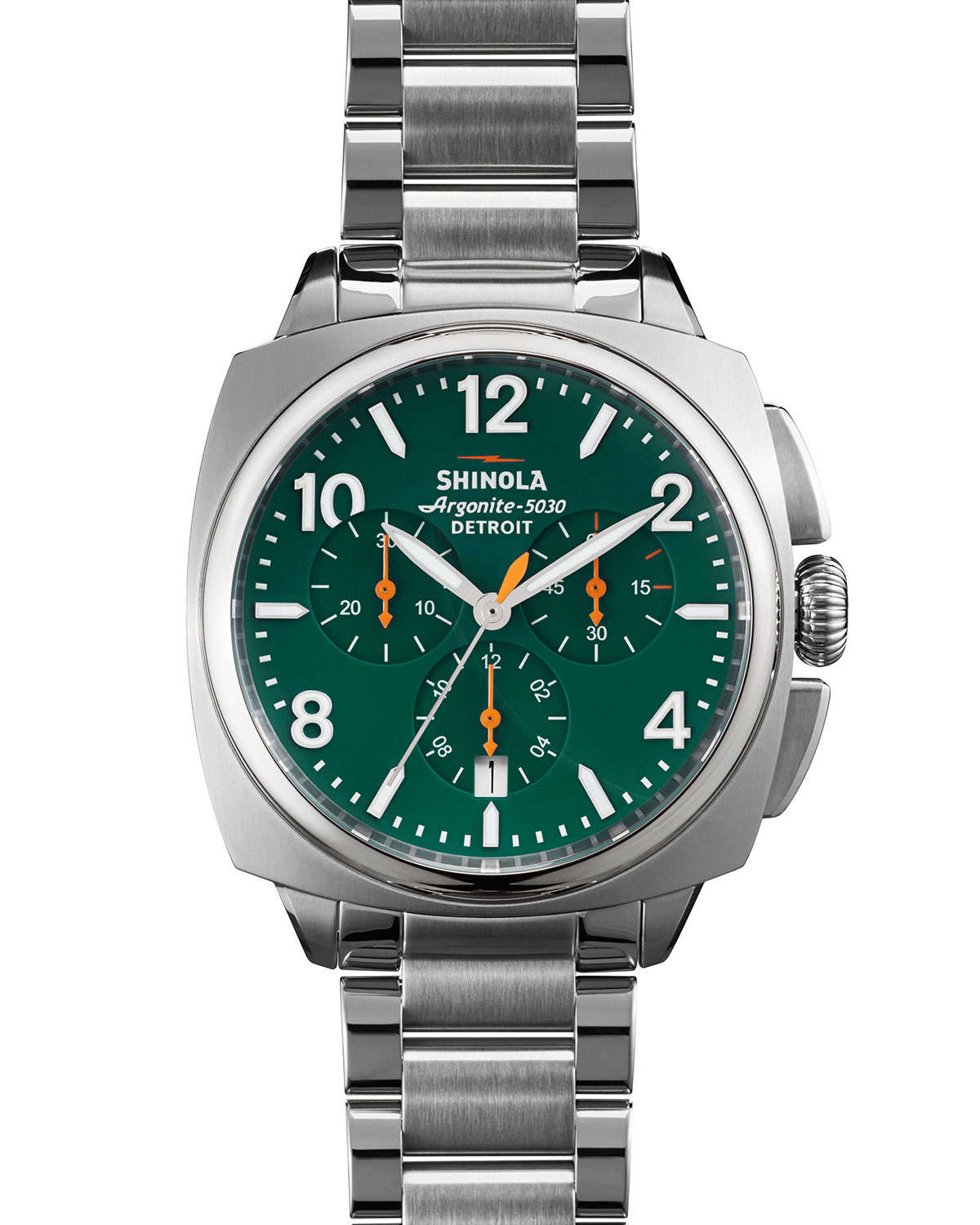 Lyst shinola 40mm brakeman chronograph watch in metallic for men for Watches 40mm