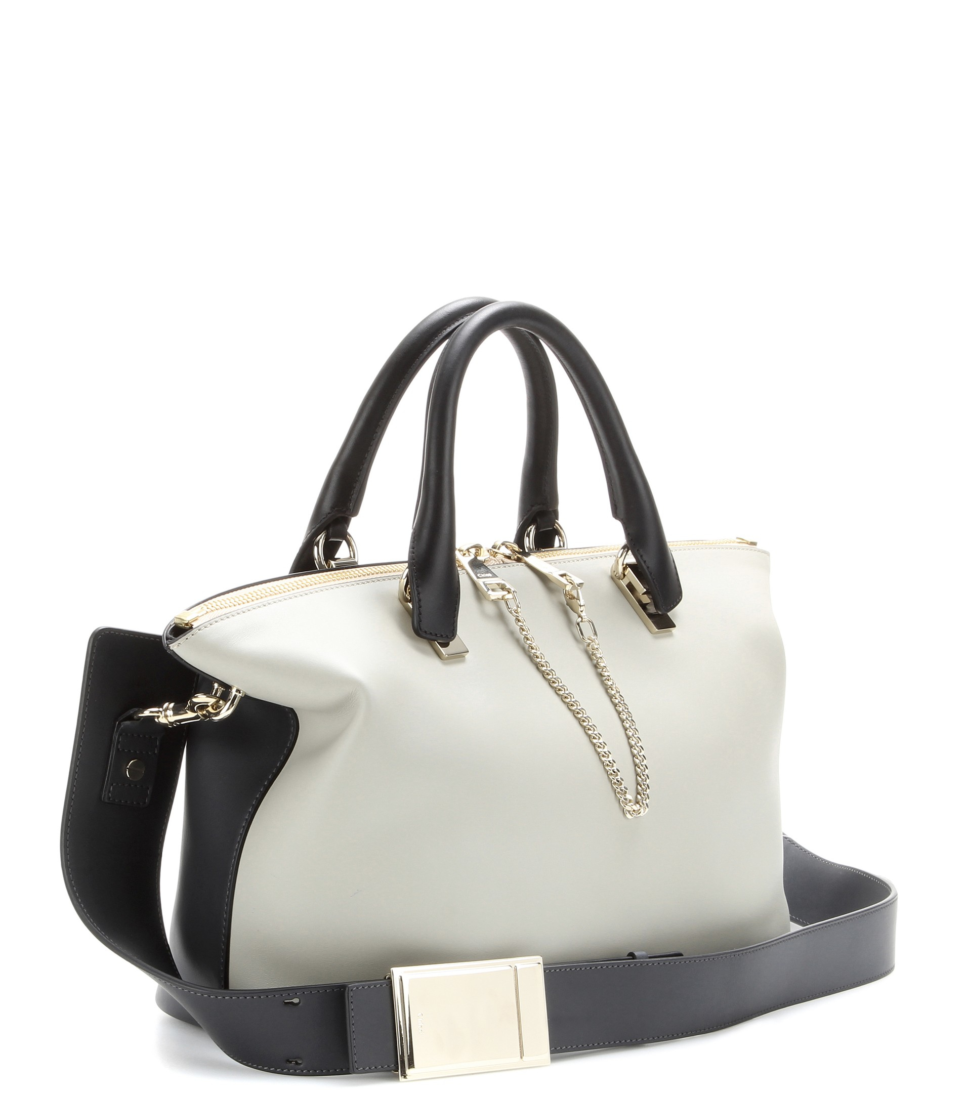Chlo¨¦ Baylee Medium Leather Tote in Gray (Marshmallow Grey)   Lyst
