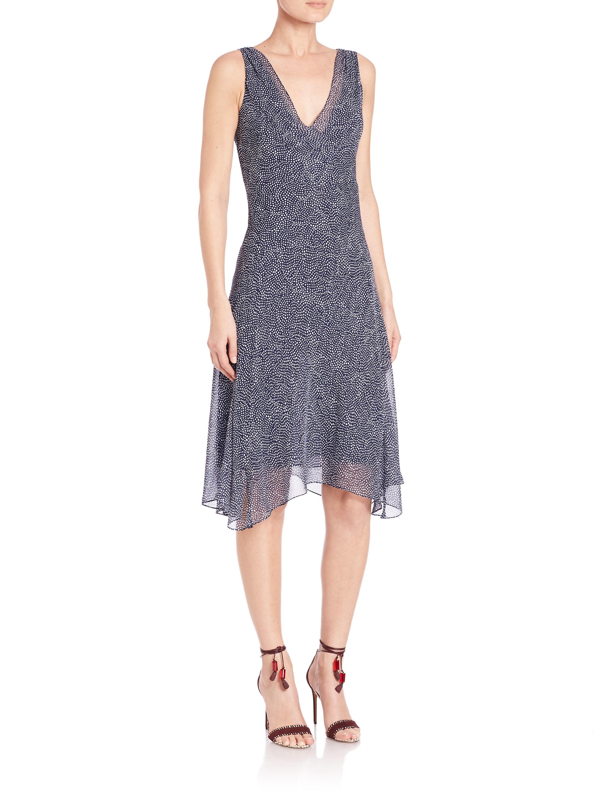 Lyst Diane Von Furstenberg Dita Silk Chiffon Dress In Blue