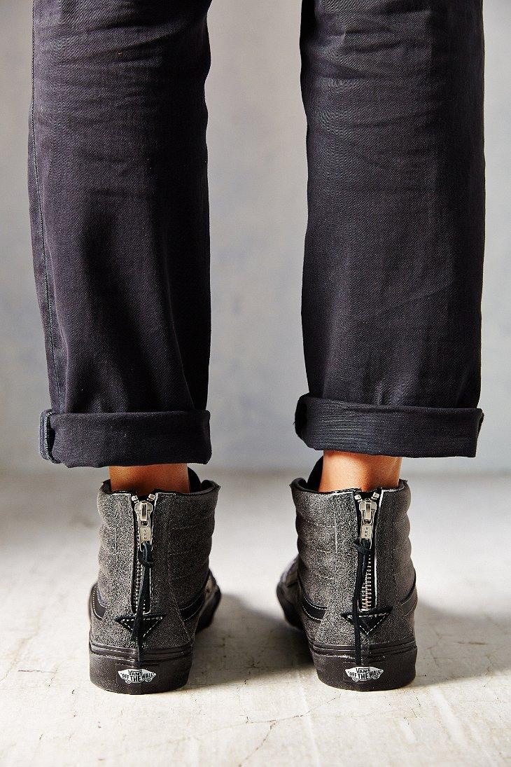 ab8cf0cf42017 Lyst - Vans Sk8-Hi Crackle Suede Sneaker in Black