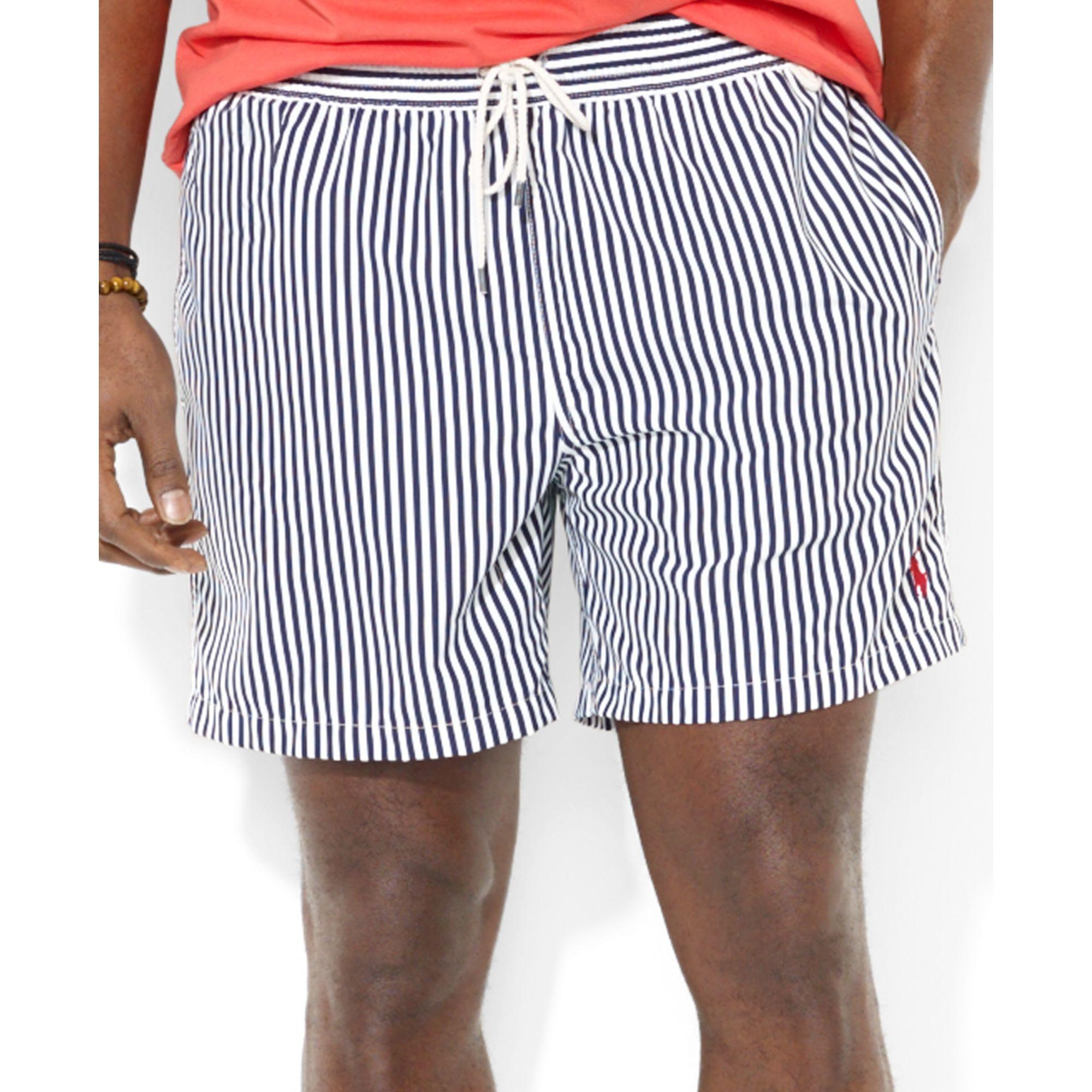 2b18895d8c ... where to buy lyst polo ralph lauren striped swim trunks in blue for men  f0409 57344 ...