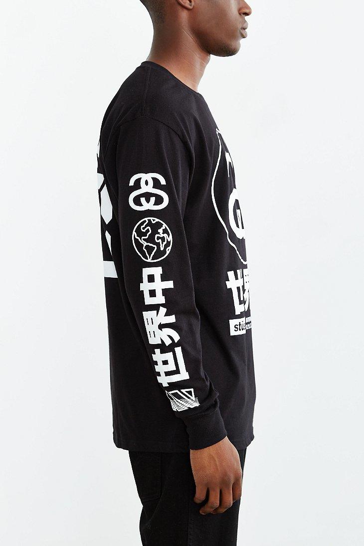 Lyst Stussy Japan International Long Sleeve Tee In Black