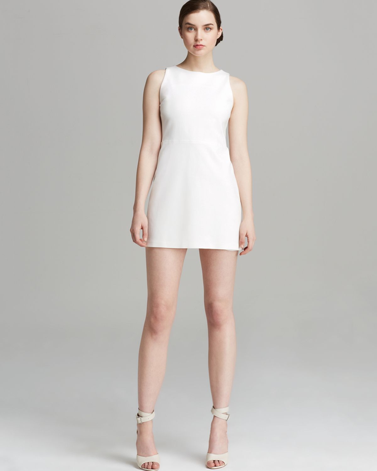 Alice   olivia Alice Olivia Dress A Line in White | Lyst