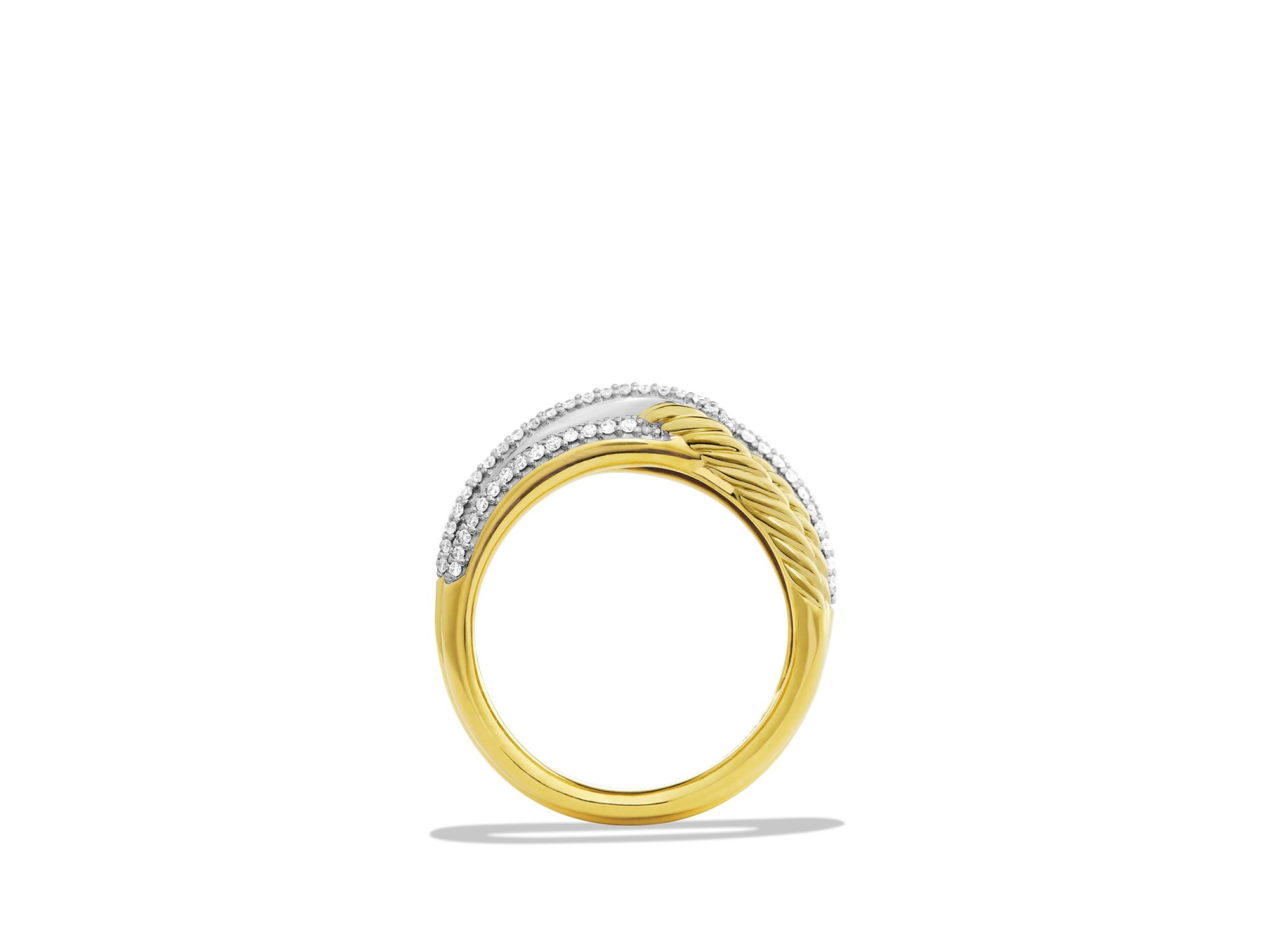 diamond ring infinity loop rings fabri jewelry gold double copy