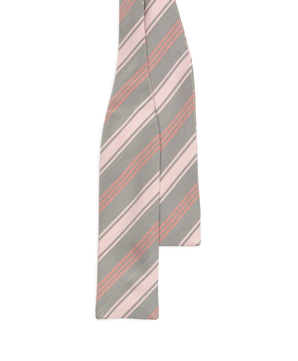 Lyst - Brooks Brothers Grey and Pink Multistripe Bow Tie ...