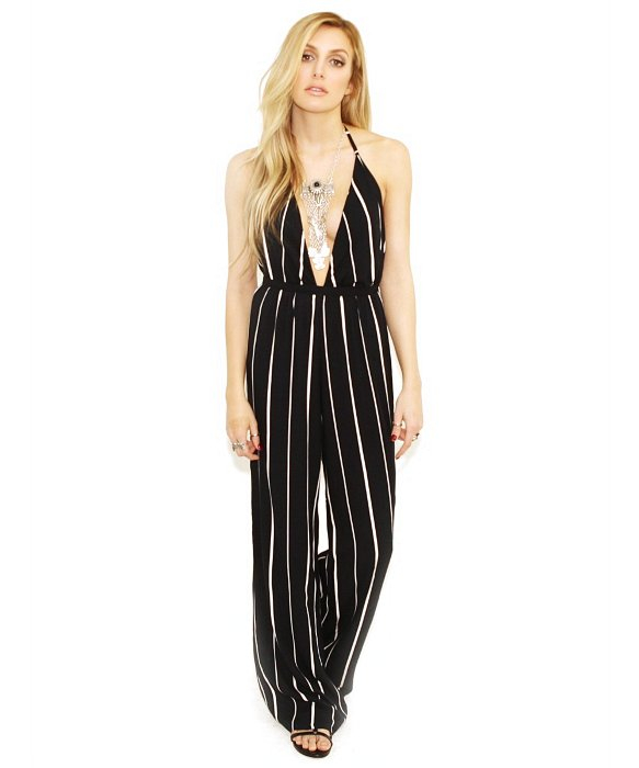 a0d6fe8f889 Faithfull The Brand Shutterbabe Jumpsuit In Sarah Stripe in Black - Lyst