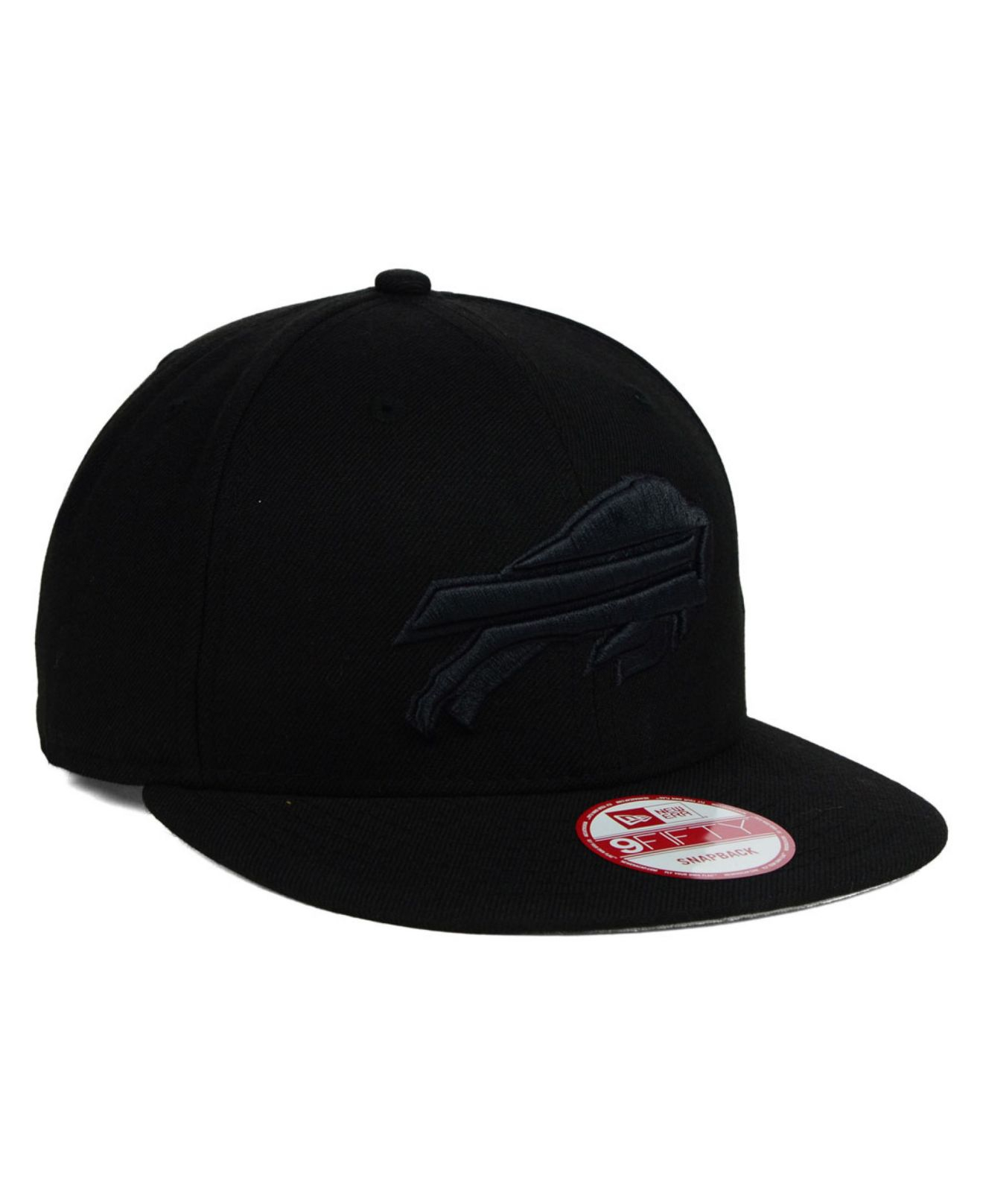 huge selection of b4bdb 8f6bd ... discount lyst ktz buffalo bills black on black 9fifty snapback cap in  black 5c1b7 38d1e