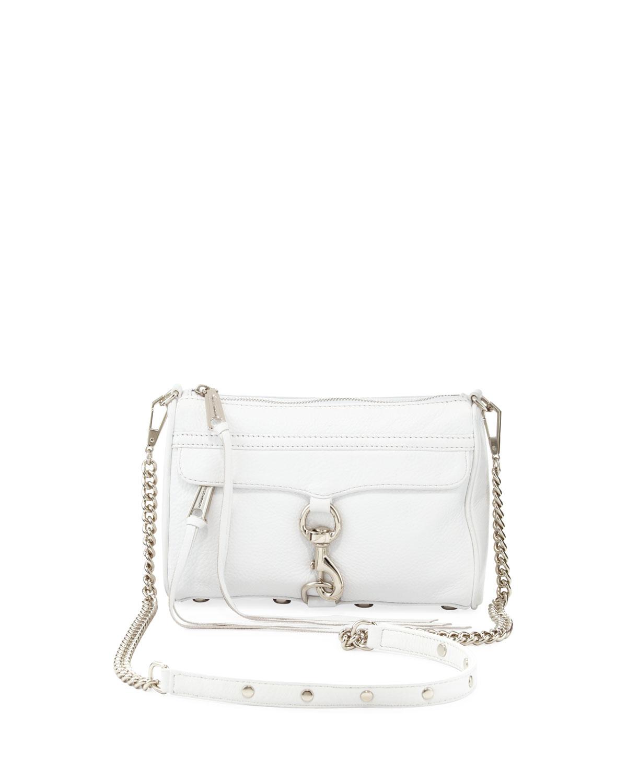 b4198a00dcb3 Lyst - Rebecca Minkoff Mini Mac Crossbody Bag White in White