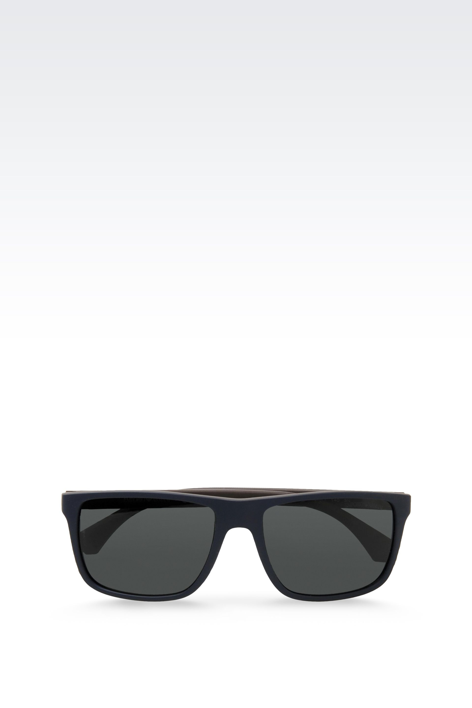 Lyst - Emporio Armani Acetate Sunglasses With Rubber Details in Blue ...