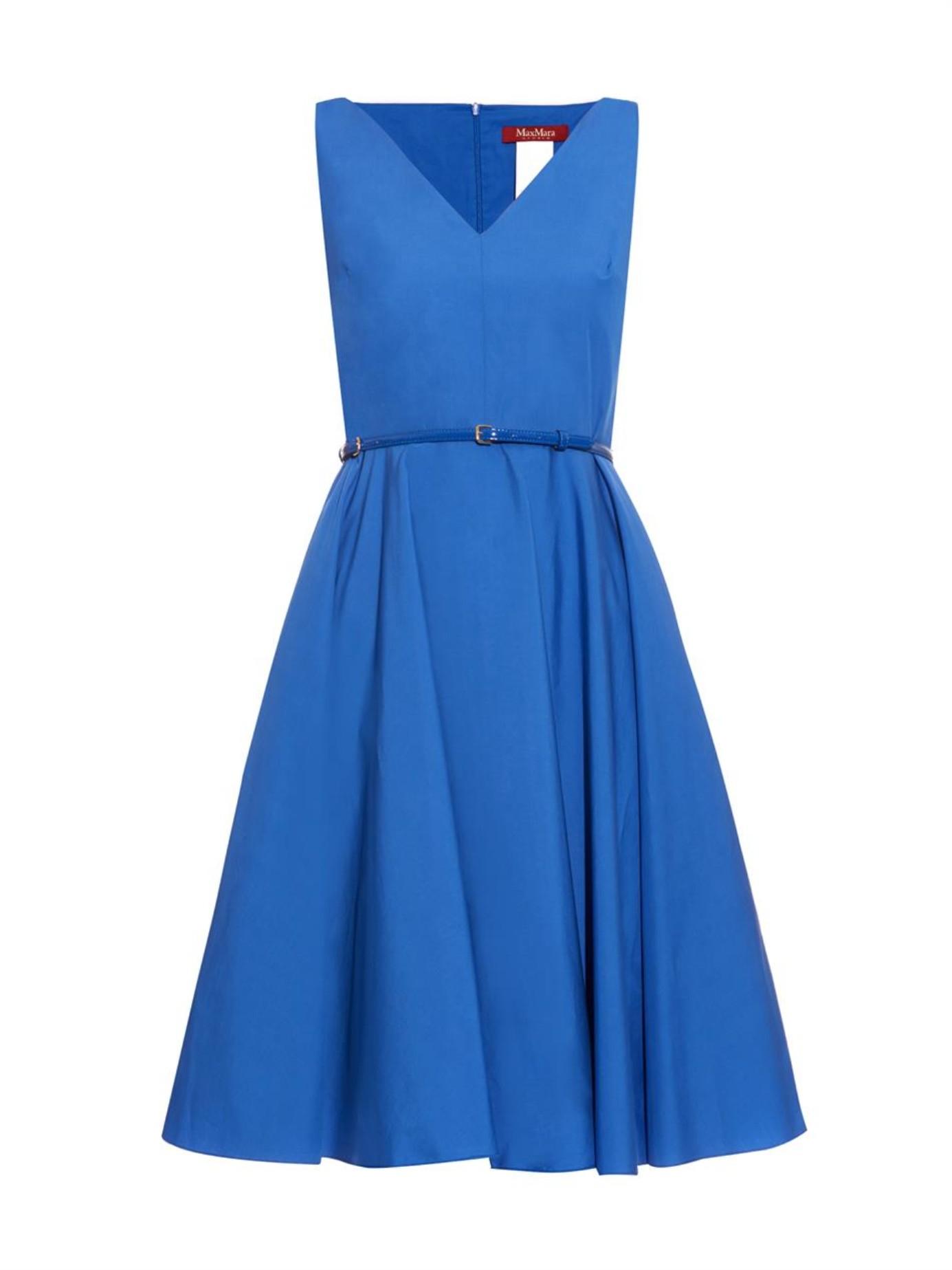 max mara studio asiago dress in blue lyst. Black Bedroom Furniture Sets. Home Design Ideas