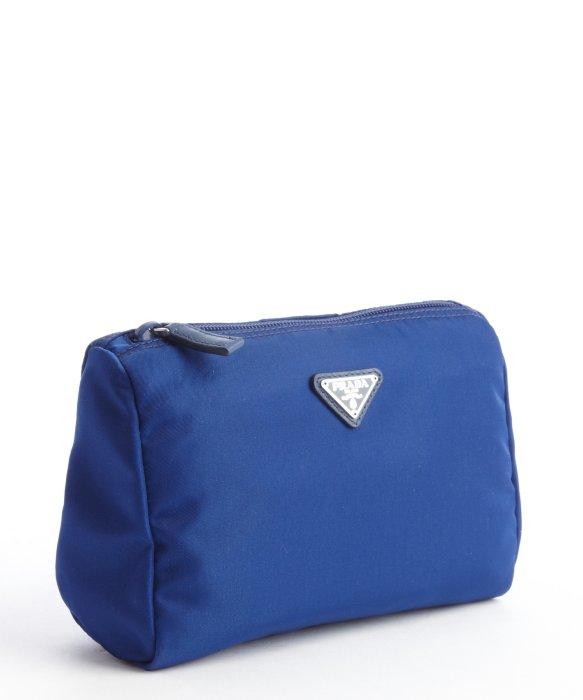 Prada Blue Nylon Necessaire Cosmetic Case in Blue   Lyst