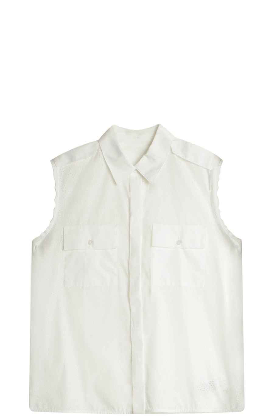 Victoria Beckham Perforated Shirt In White Lyst