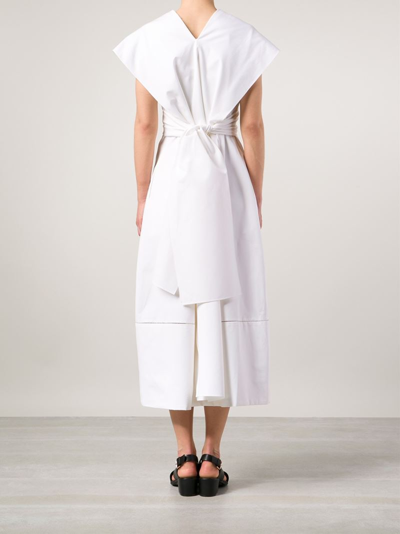 4737e82dbe0c The Row Kimono Style Wrap Dress in White - Lyst
