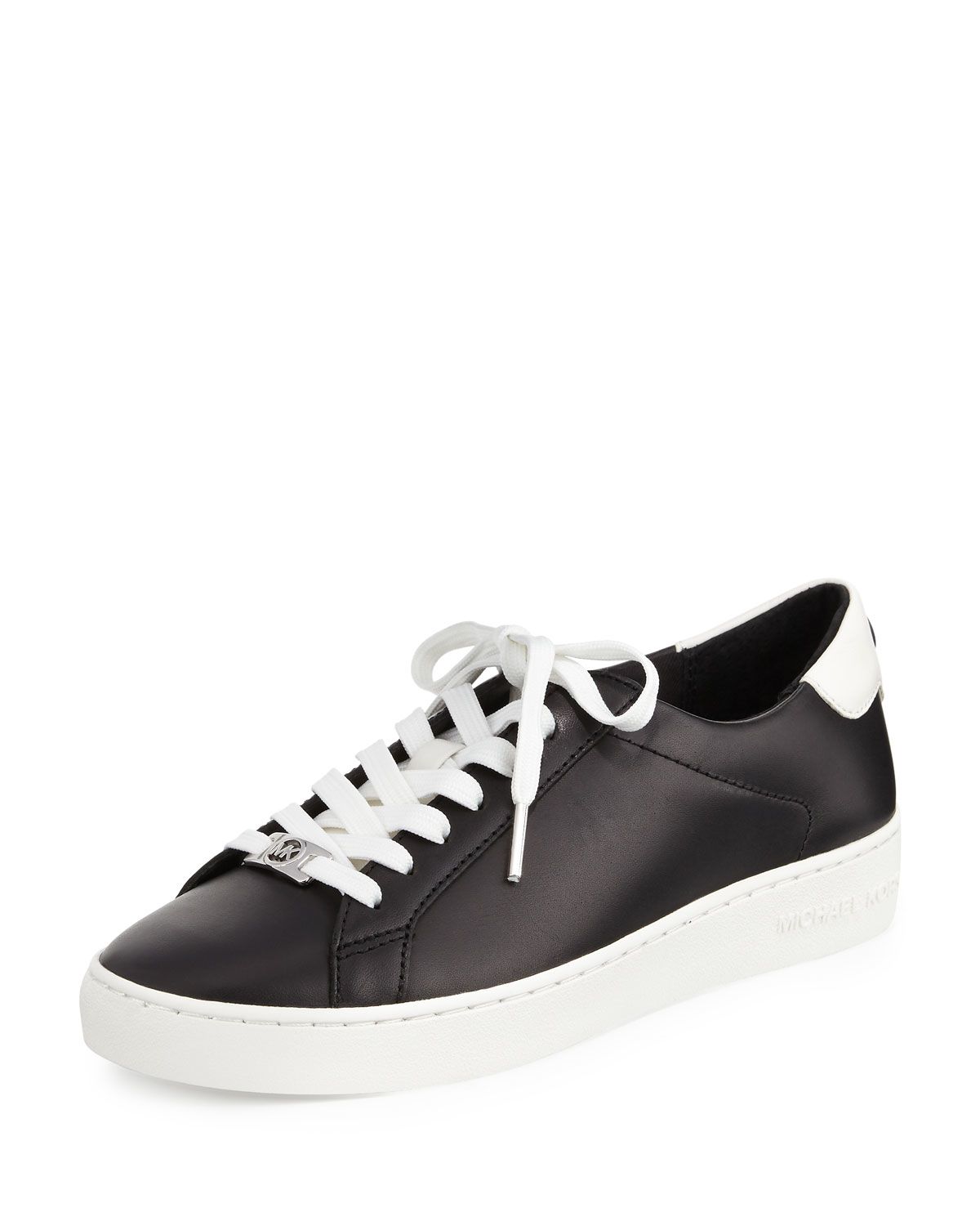 michael michael kors irving leather lace up sneaker in. Black Bedroom Furniture Sets. Home Design Ideas