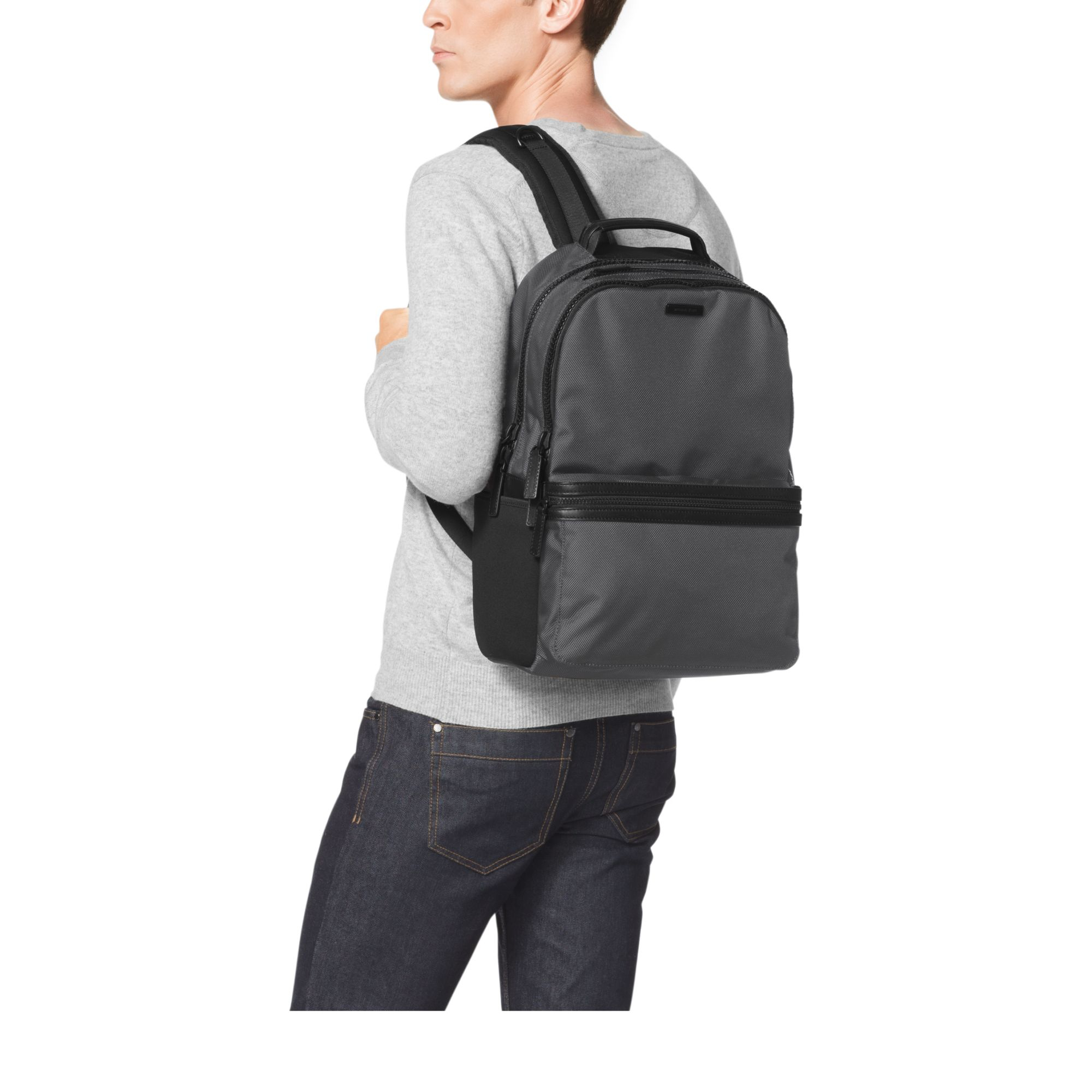 88ea5b8fd5ff Michael Kors Parker Nylon Backpack in Gray for Men - Lyst
