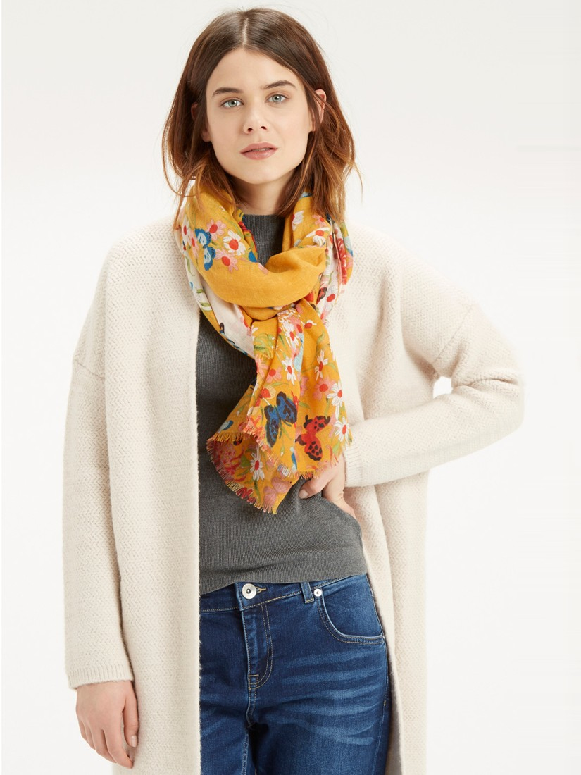 oasis butterfly scarf in yellow lyst