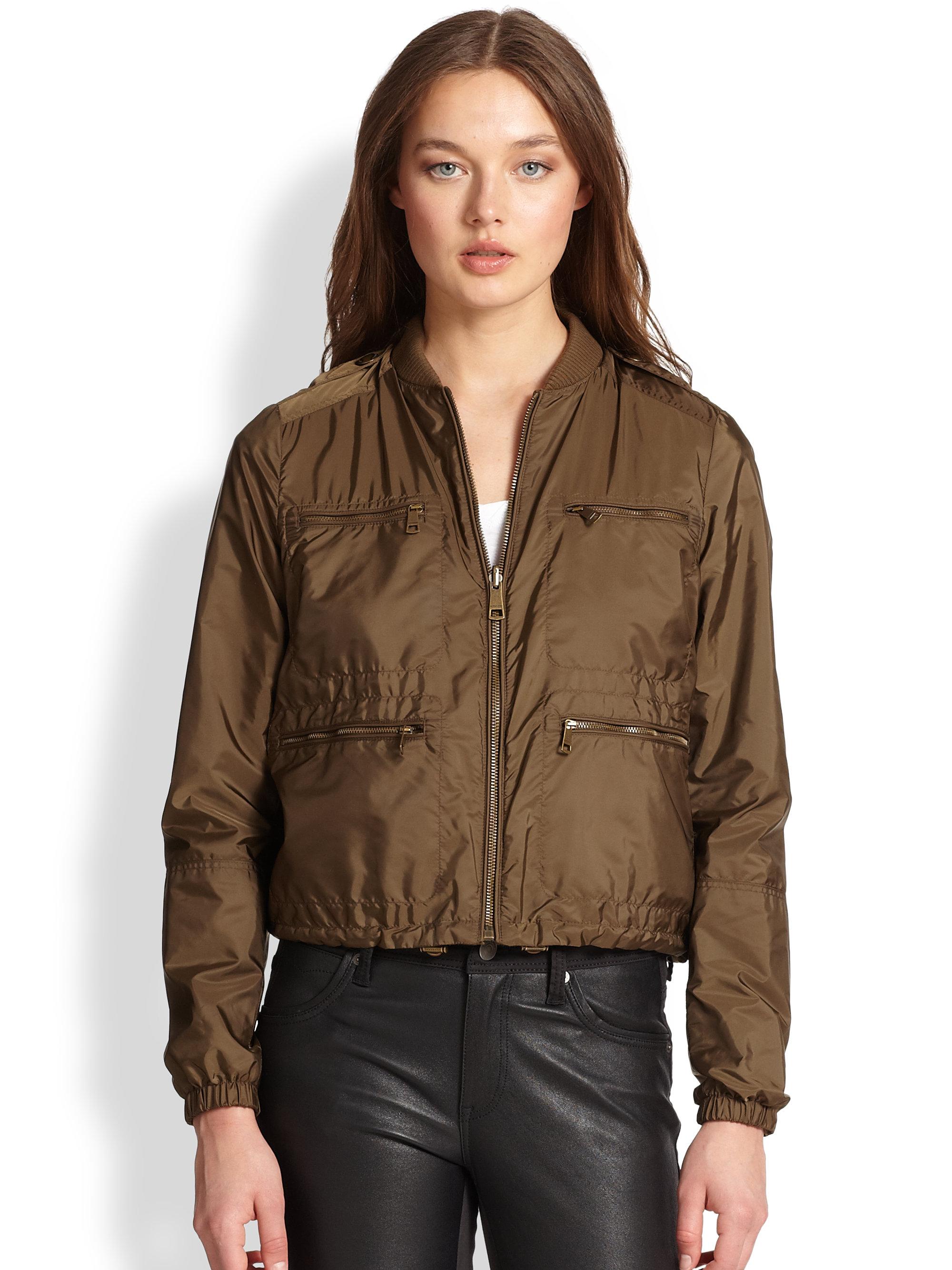 lyst burberry brit wrenleigh reversible jacket in brown. Black Bedroom Furniture Sets. Home Design Ideas