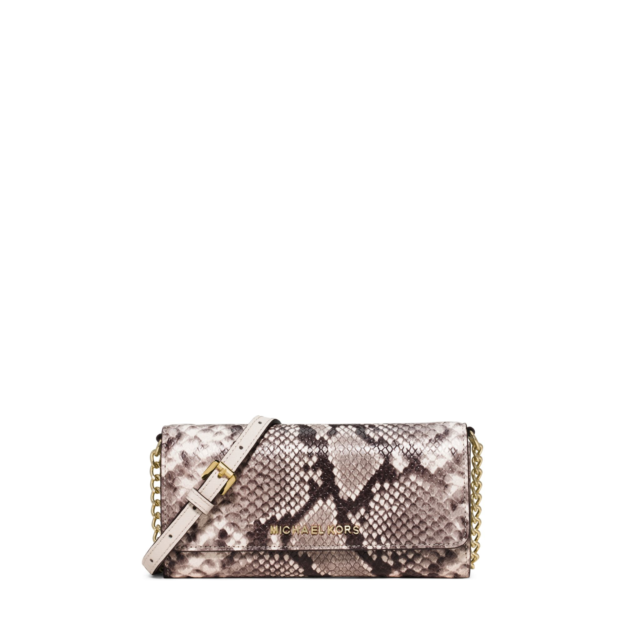 53f0069f0bb6 Michael Kors Jet Set Travel Embossed-leather Continental Wallet in ...