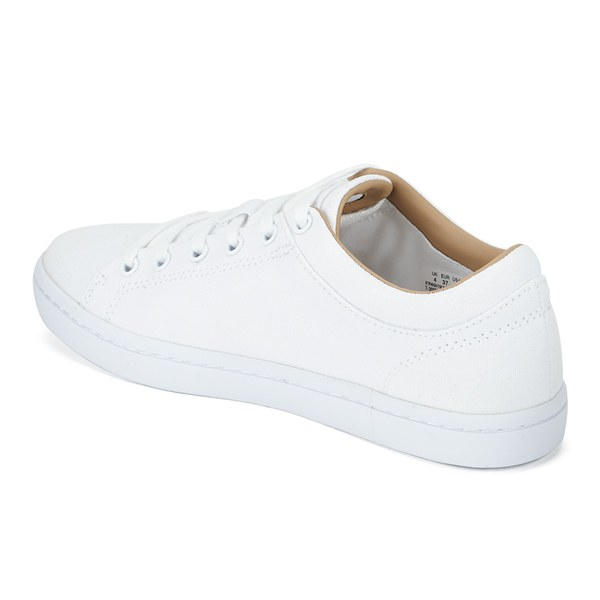2e718c2845ee Lacoste Women s Straightset W Canvas Trainers in White for Men - Lyst