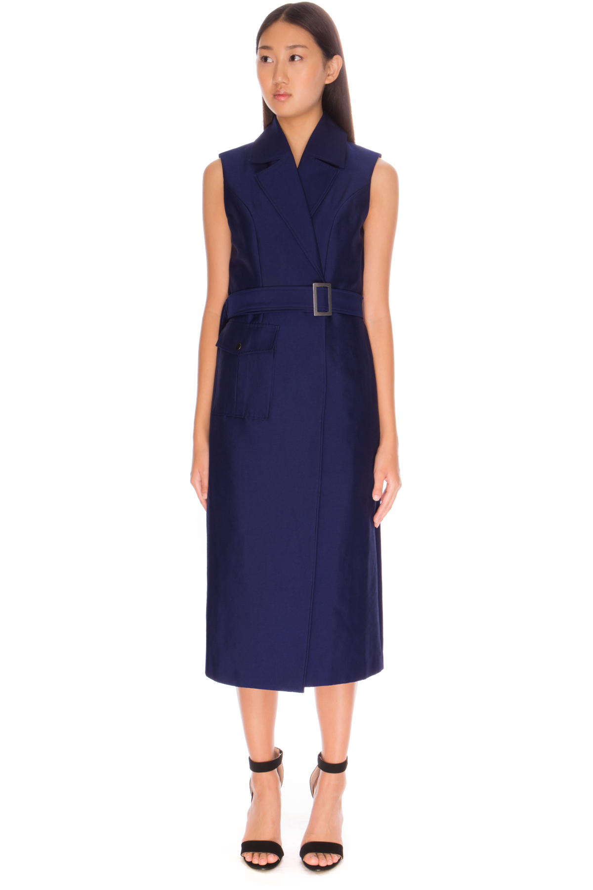 C meo collective white walls trench dress in blue lyst for C meo bedroom wall dress