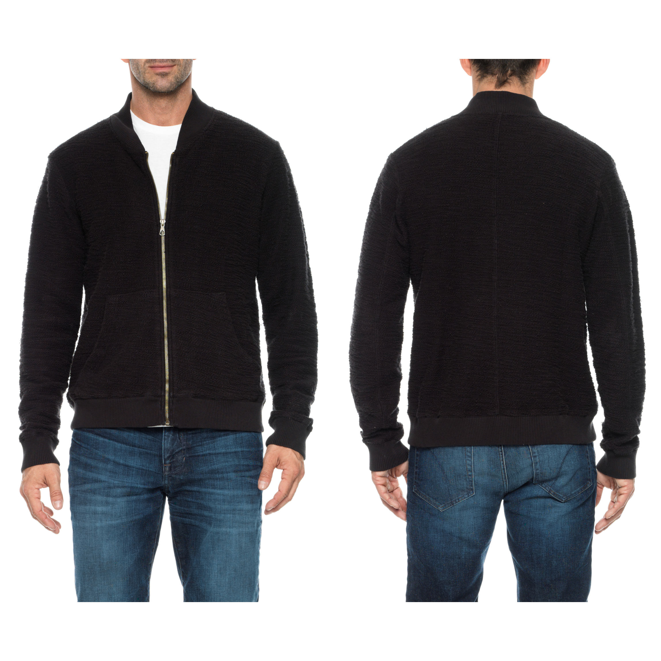 Joe's jeans Ver Bomber Sweater in Black for Men | Lyst