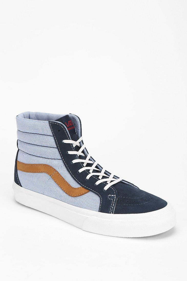 vans sk8hi reissue womens high top sneaker in blue lyst. Black Bedroom Furniture Sets. Home Design Ideas