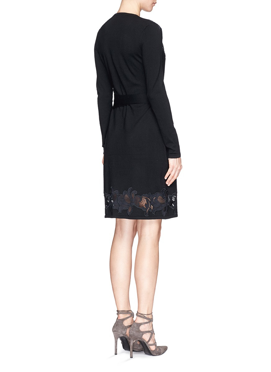 Lyst Diane Von Furstenberg Leandra Floral Lace Knit