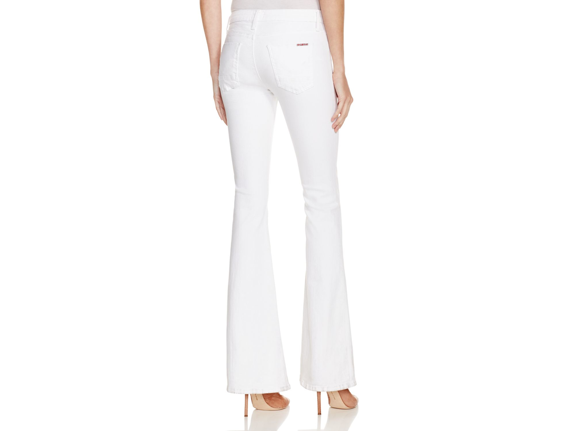 Hudson jeans Mia Petite Flare Jeans In White in White | Lyst
