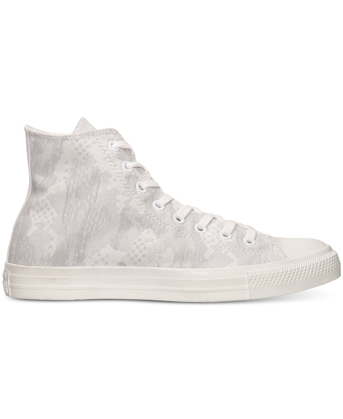 6b4f6cdc6b7ae Converse Men s Chuck Taylor High Camo Jacquard Casual Sneakers From ...