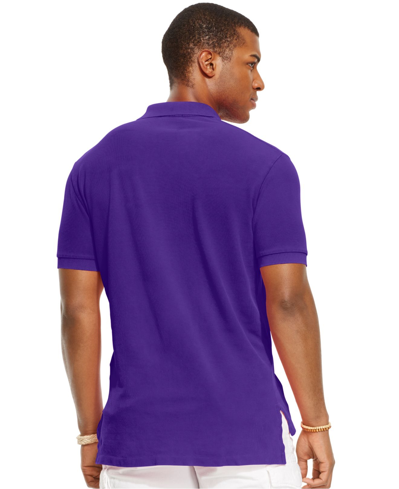 Lyst - Polo Ralph Lauren Classic-fit Mesh Polo in Purple for Men 8ca9904577c