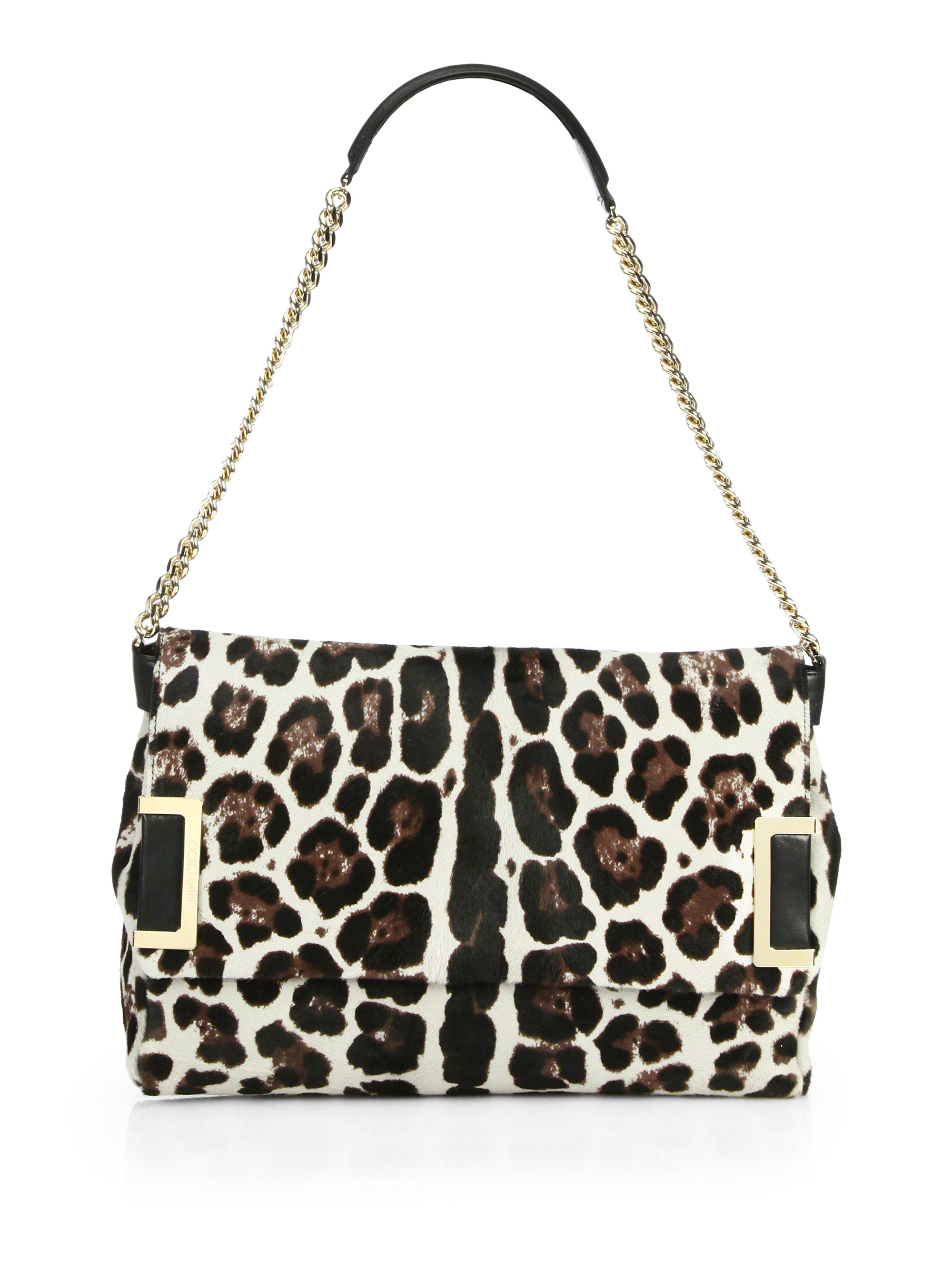 Choo Jimmy leopard bag pictures