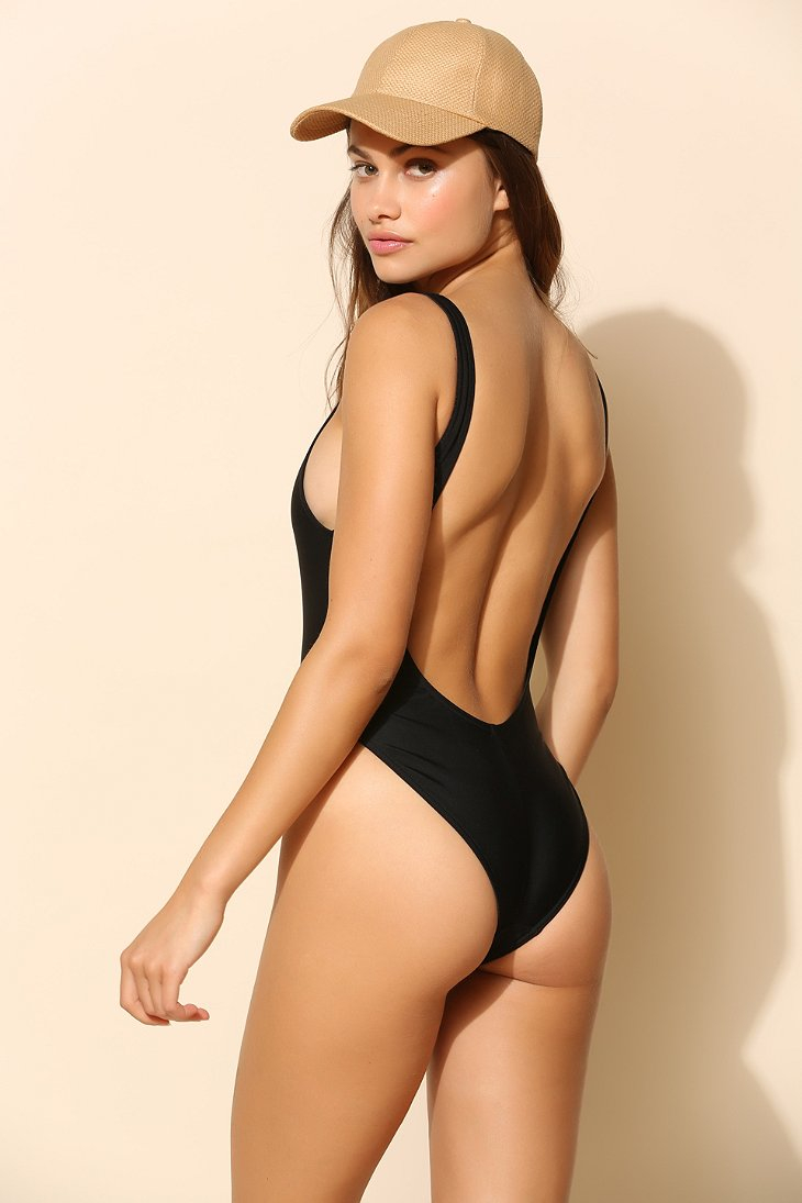 Yes master Baywatch Onepiece Swimsuit in Black