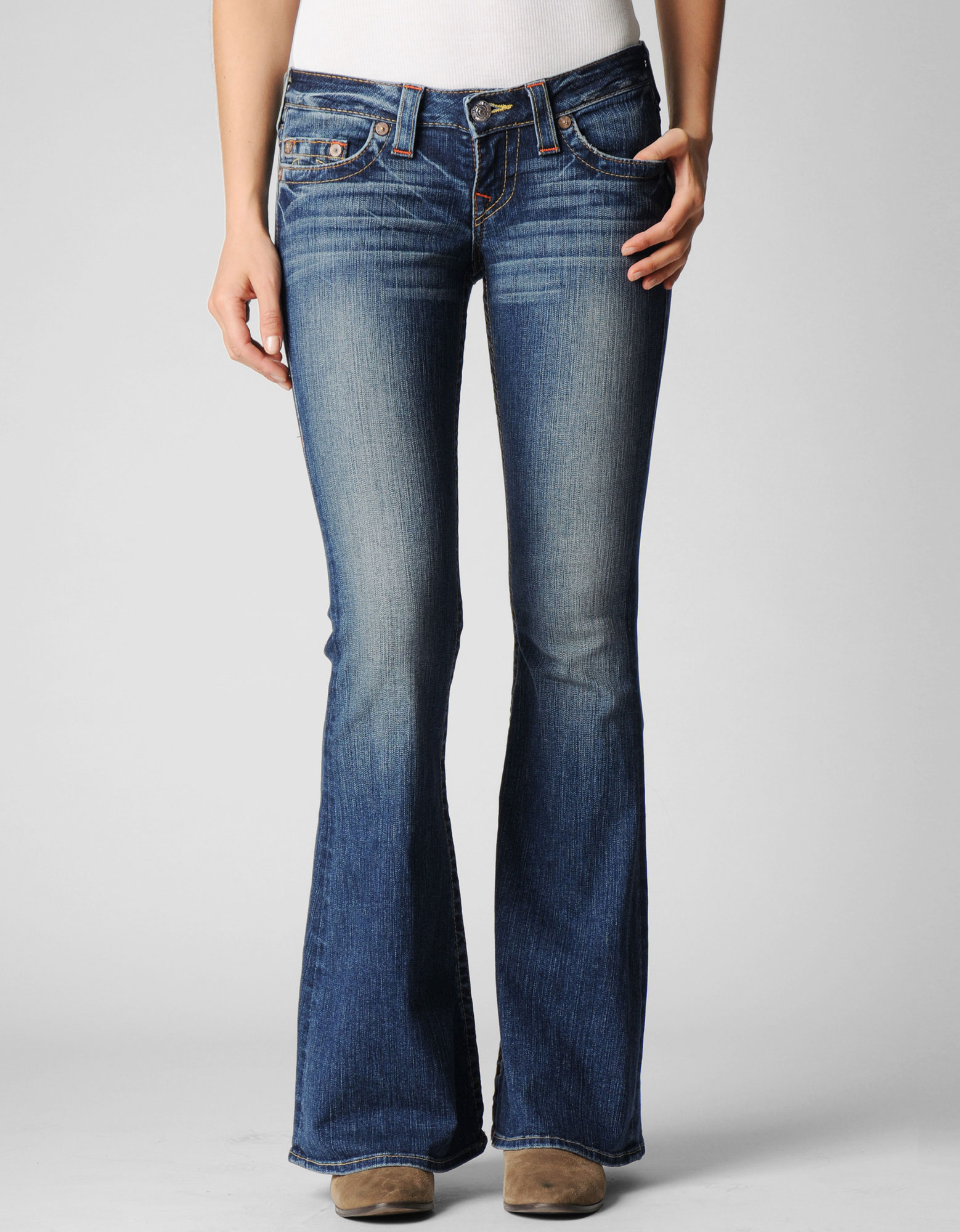 True religion Womens Originals Carrie Low Rise Flare in Blue | Lyst
