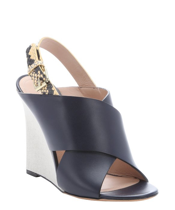 Céline Snakeskin Wedge Sandals best for sale pKVTUSM5F