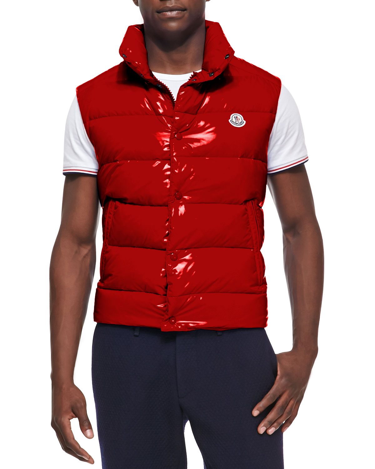 e29dc97a3564d1 ... germany lyst moncler tib puffer vest in red for men 1cc20 09390