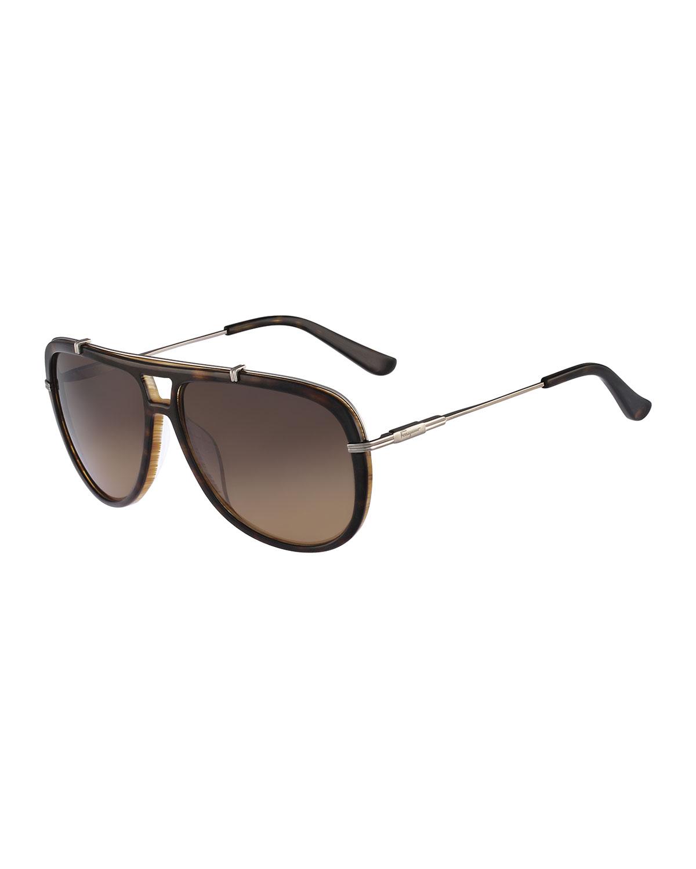 gladiator sunglasses  Ferragamo Gladiator Sunglasses in Brown