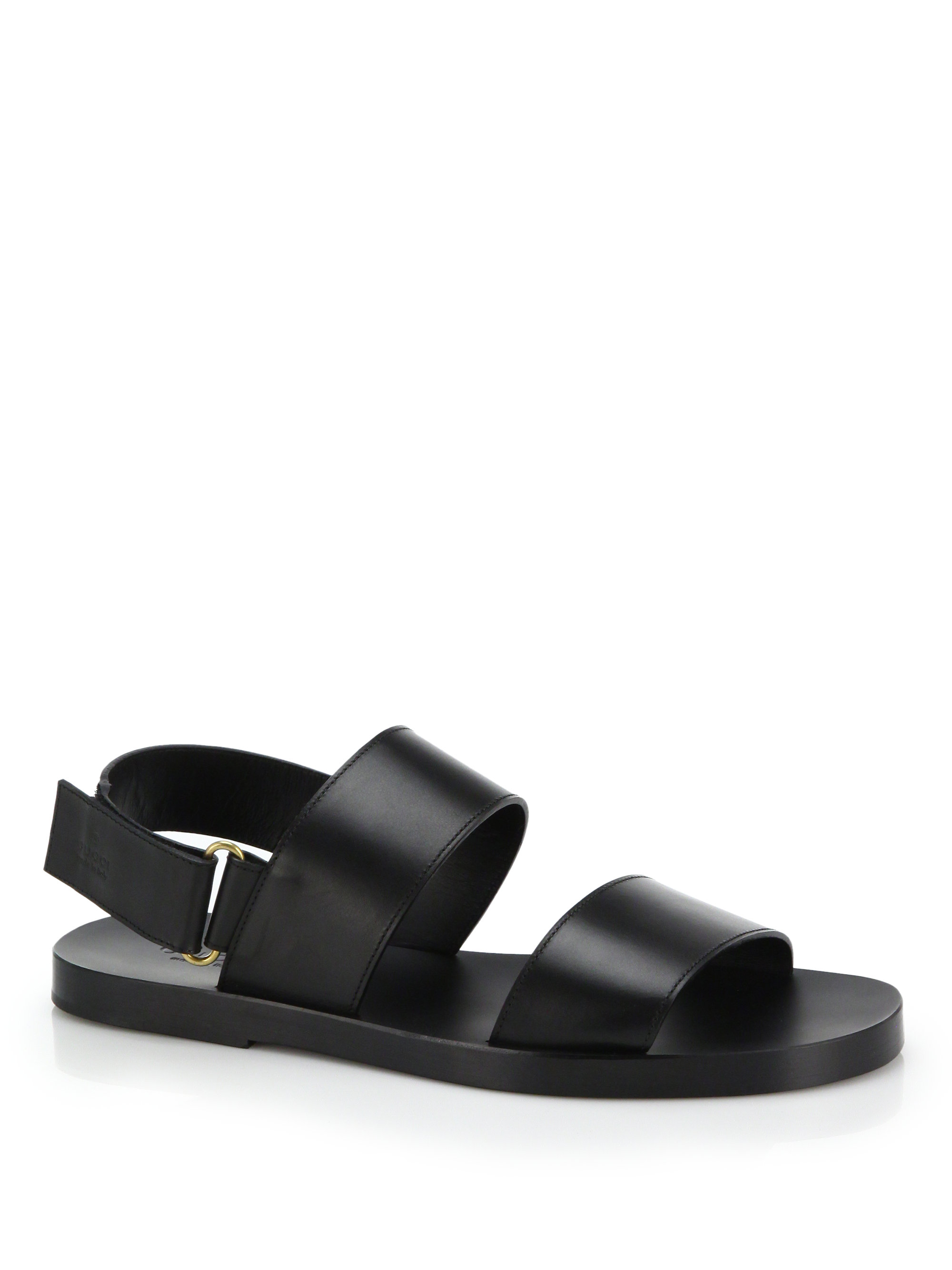 Gucci Brighton Leather Sandals In Black For Men Lyst