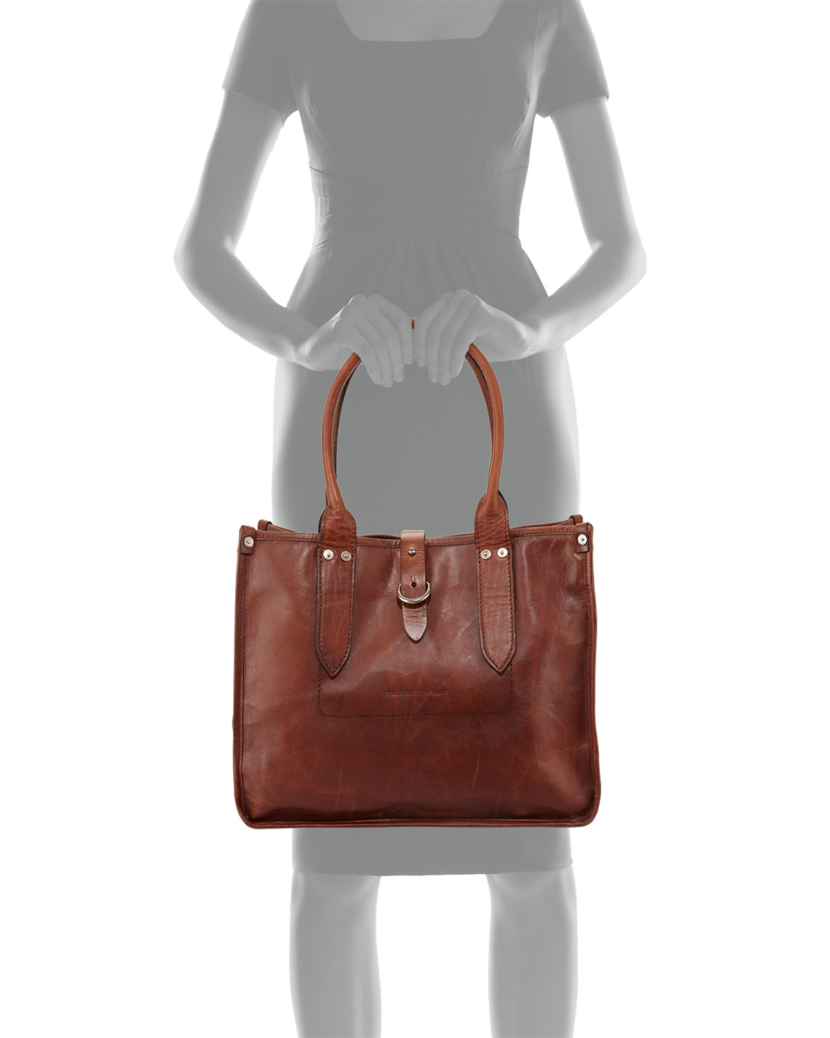 Frye Amy Leather Shopper Tote Bag in Brown | Lyst