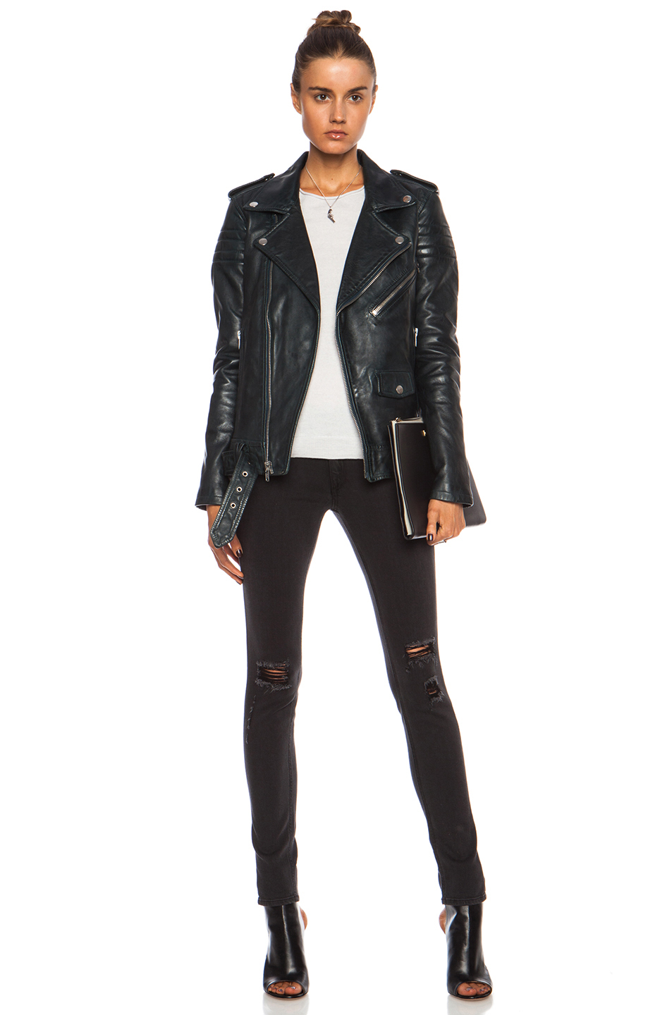 Lyst Blk Dnm Leather Jacket 8 In Blue