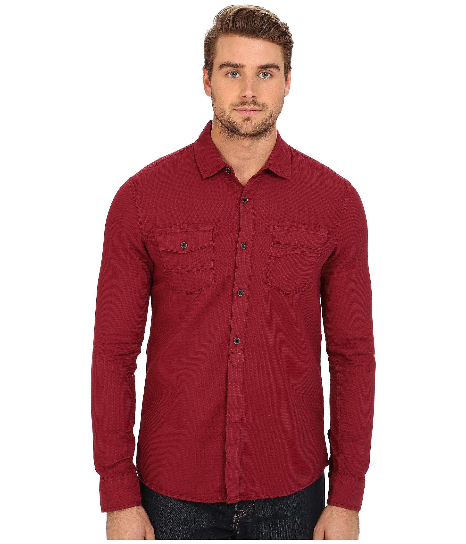 Lyst - Mavi jeans Denim Shirt in Red for Men