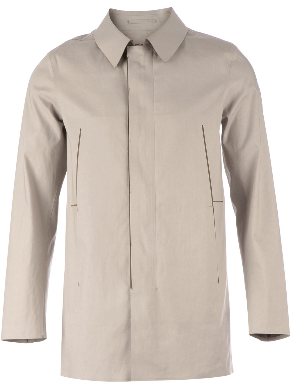 Herno Classic Car Coat in Gray for Men | Lyst