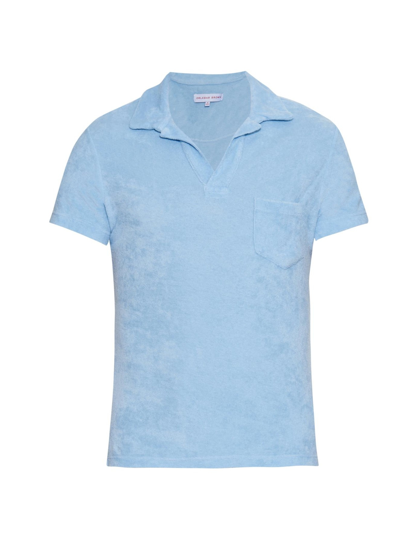 Lyst orlebar brown terry cotton polo shirt in blue for men for Mens terry cloth polo shirt
